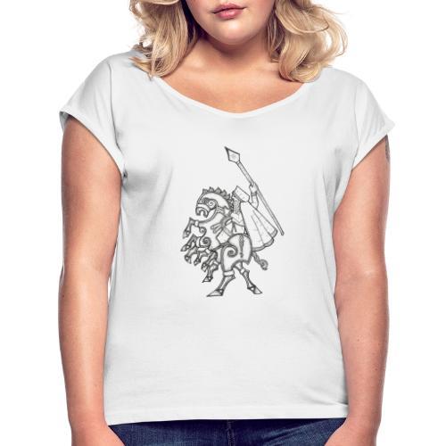 Odin, chevauchant Sleipnir - T-shirt à manches retroussées Femme