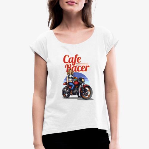 Cafe Racer - T-shirt à manches retroussées Femme