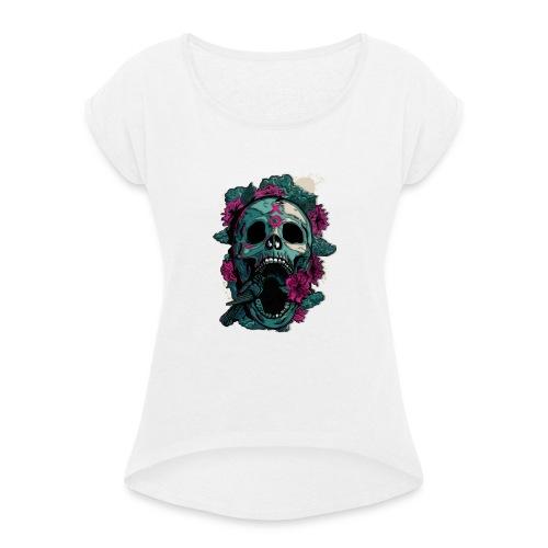 The XO - T-shirt med upprullade ärmar dam