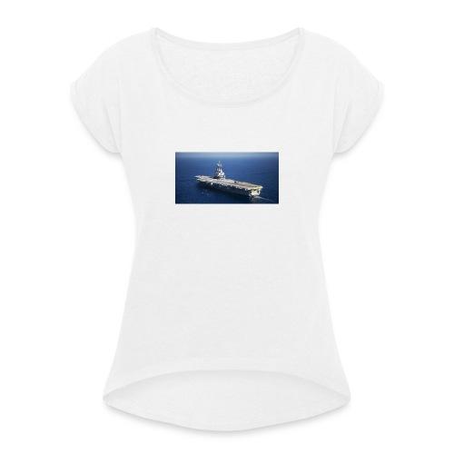 porte avion Charles de Gaulle - T-shirt à manches retroussées Femme