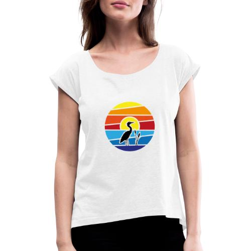 Bald isch's wiedr schee-Fest 2021 (Schwarzer Text) - Frauen T-Shirt mit gerollten Ärmeln