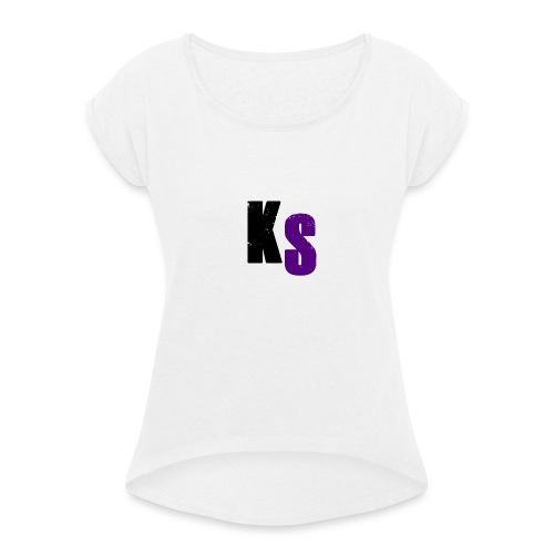 KS Official - T-shirt med upprullade ärmar dam