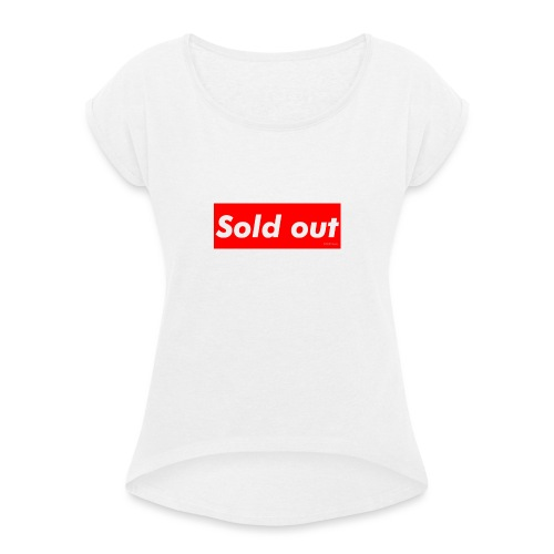 Sold Out - T-shirt med upprullade ärmar dam