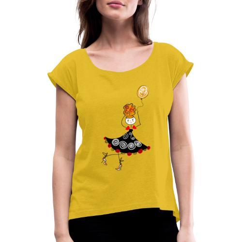 Ballerina con palloncino - Maglietta da donna con risvolti