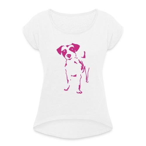 Jack Russell Terrier - Frauen T-Shirt mit gerollten Ärmeln