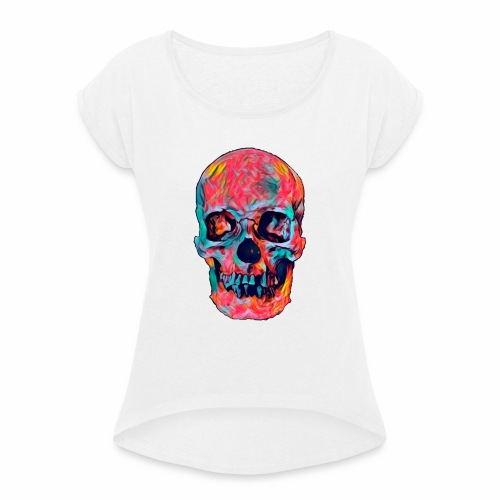 CRANEO COLORIDO - Camiseta con manga enrollada mujer