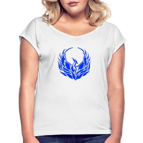 Phoenix1 - Frauen T-Shirt mit gerollten Ärmeln
