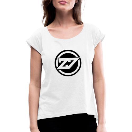 Designer Auswahl - Frauen T-Shirt mit gerollten Ärmeln
