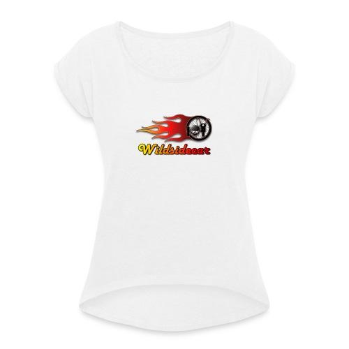 logo wildsidecar sans fond - T-shirt à manches retroussées Femme