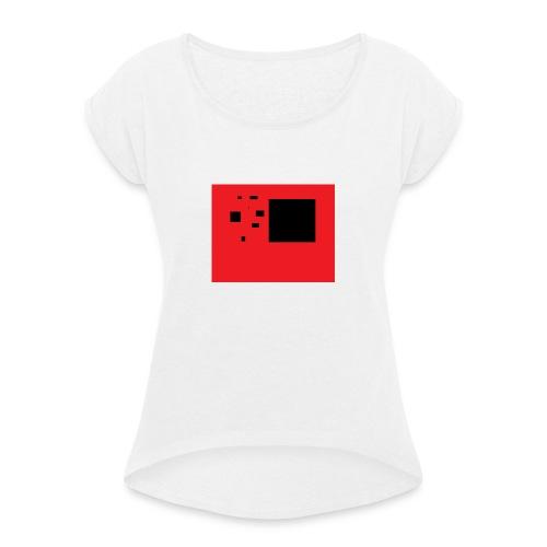 Kuq e zi - T-shirt à manches retroussées Femme