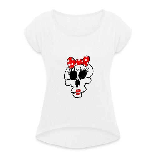 Crâne Minnie par Jack M. - T-shirt à manches retroussées Femme