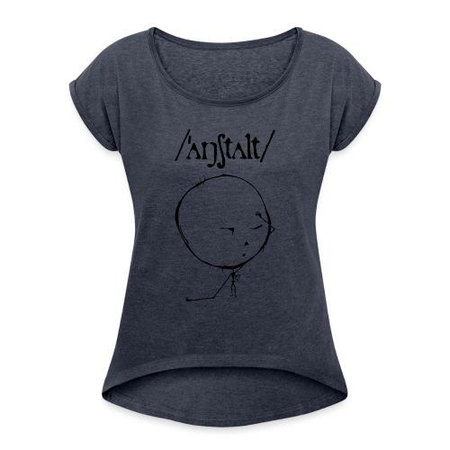 logo mit kreisling - Frauen T-Shirt mit gerollten Ärmeln