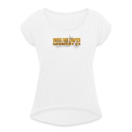 UFC GERMANY 23 Skull-Engine-Chief Design - Frauen T-Shirt mit gerollten Ärmeln