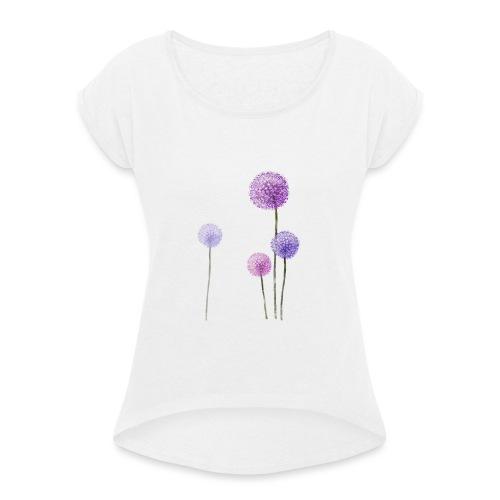 flowercontest - Frauen T-Shirt mit gerollten Ärmeln
