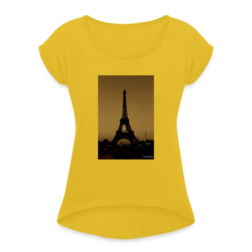 Paris - Women's T-Shirt with rolled up sleeves