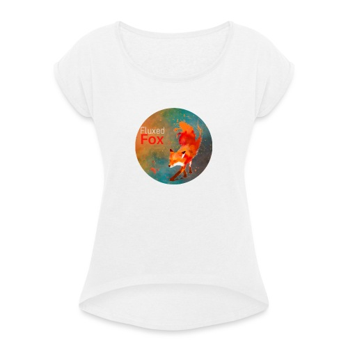 FluxedFoxOffical - Women's T-Shirt with rolled up sleeves