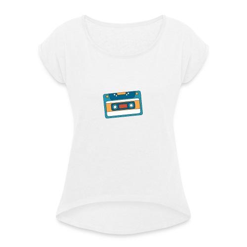 Cassette - Camiseta con manga enrollada mujer