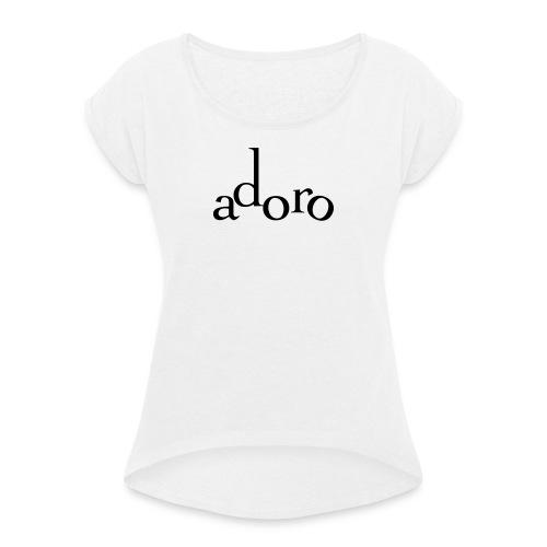 adoro - Maglietta da donna con risvolti