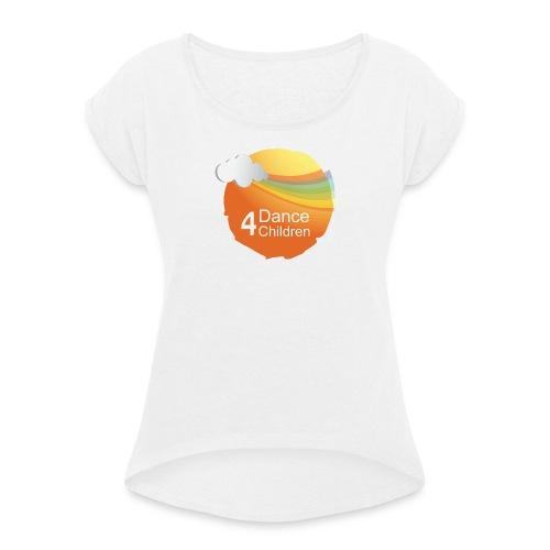 Dance4Children Logo - Vrouwen T-shirt met opgerolde mouwen