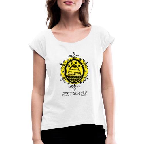 Bienenvolk - Frauen T-Shirt mit gerollten Ärmeln