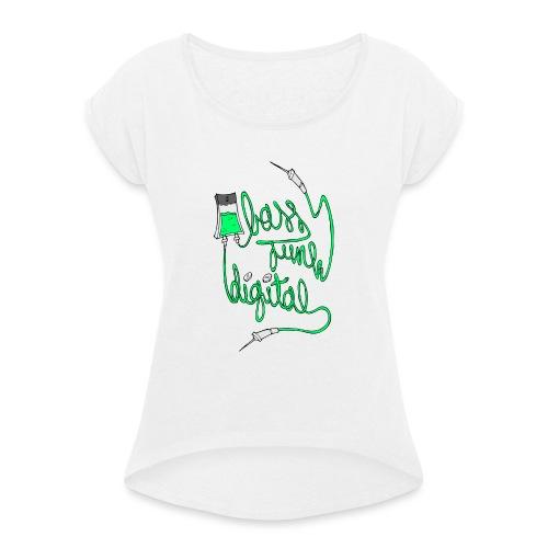 BASS JUNK DIGITAL ZIPPED HOODIE - Vrouwen T-shirt met opgerolde mouwen