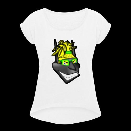 dunkelElf - Frauen T-Shirt mit gerollten Ärmeln