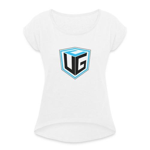 Ultimate Gaming Community Cube - Frauen T-Shirt mit gerollten Ärmeln