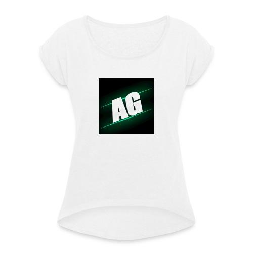 AldizGamez 4/4s Case - Vrouwen T-shirt met opgerolde mouwen