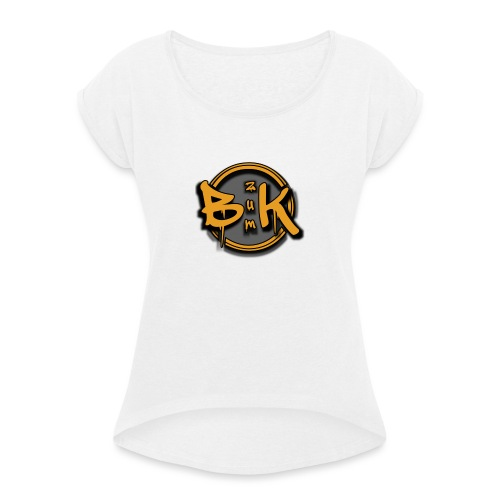b2 - Women's T-Shirt with rolled up sleeves