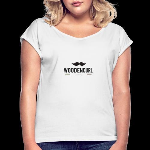 WoodencurlClothing - T-shirt à manches retroussées Femme