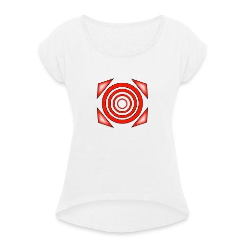 dizzy - Naisten T-paita, jossa rullatut hihat