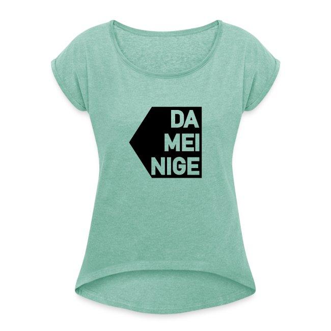 Vorschau: meinige - Frauen T-Shirt mit gerollten Ärmeln