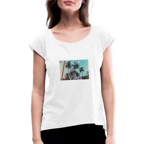 Surf-vibes Az - T-shirt med upprullade ärmar dam