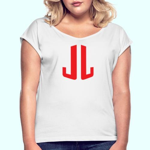 JL + NEXT LEVEL BODY - Naisten T-paita, jossa rullatut hihat