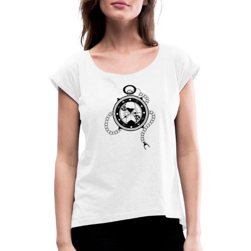 Le Temps - T-shirt à manches retroussées Femme
