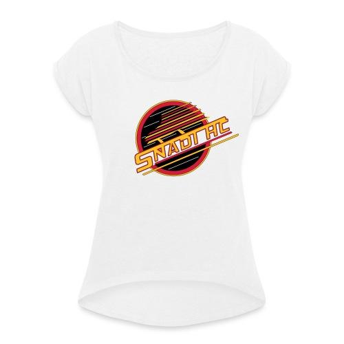 Snadi alternate logo - Naisten T-paita, jossa rullatut hihat