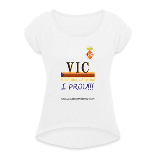 vic dona - Camiseta con manga enrollada mujer