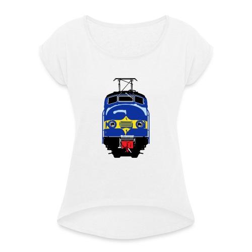 Hondekop Benelux 3 kleuren - Vrouwen T-shirt met opgerolde mouwen