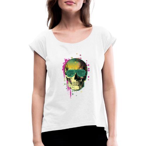 squelette2 - T-shirt à manches retroussées Femme