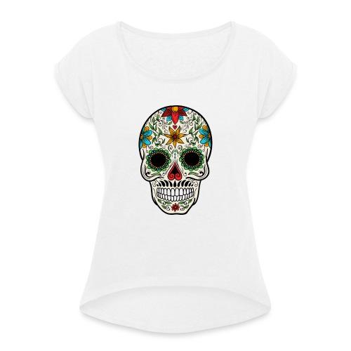 Craneo - Camiseta con manga enrollada mujer