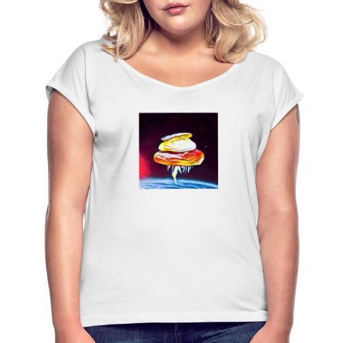 Semmel 3 - T-shirt med upprullade ärmar dam