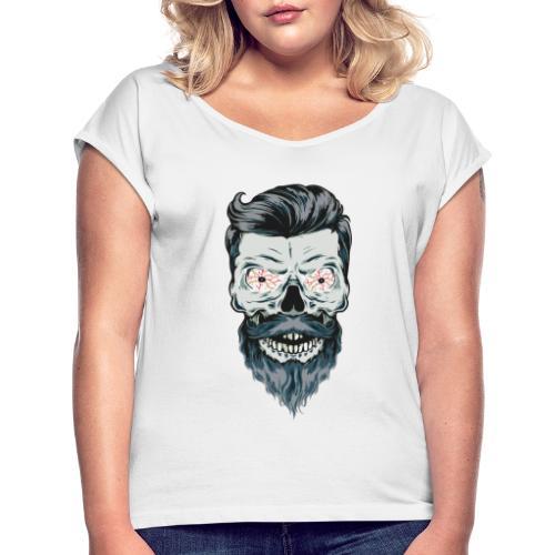 mort barbu - T-shirt à manches retroussées Femme