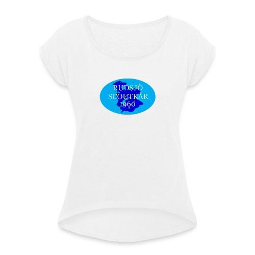 rudsjo_rund_transparant - T-shirt med upprullade ärmar dam
