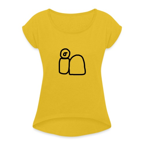 IN - Women's T-Shirt with rolled up sleeves
