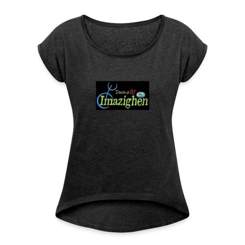 Imazighen ithran rif - Vrouwen T-shirt met opgerolde mouwen
