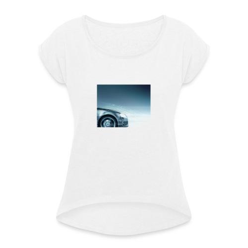 Hona - Frauen T-Shirt mit gerollten Ärmeln