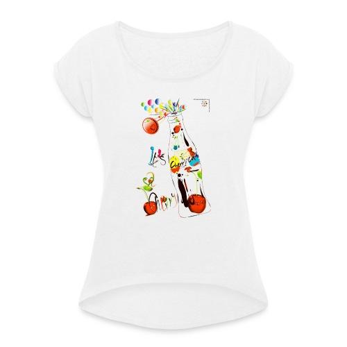 cola cherry 05 - Maglietta da donna con risvolti