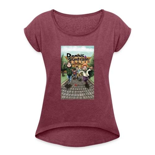 DuG-Band1-Kurztitel - Frauen T-Shirt mit gerollten Ärmeln