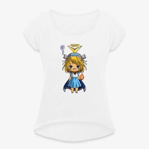 T.Shirt Chibi Oméga Zell Fille By Calyss - T-shirt à manches retroussées Femme