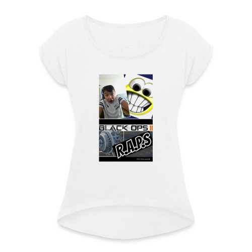 Collage 2017 03 10 15 19 00 - Frauen T-Shirt mit gerollten Ärmeln
